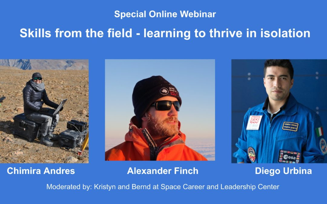 Skills from the field – learning to thrive in isolation (Special Event)